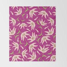 Bright Pink Throw Blanket