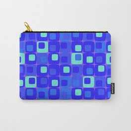 Retro kitchen pattern blue Carry-All Pouch