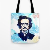 poe Tote Bags featuring POE by Jon Cain