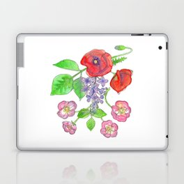 Wild Poppies, Lilacs, and Roses Laptop & iPad Skin