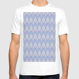 Art Deco Diamond Teardrop - Blue T-shirt