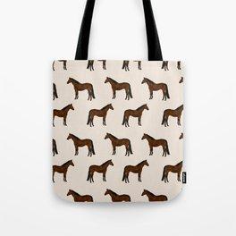 Bay Horse breed farm animal pet pattern horses Tote Bag