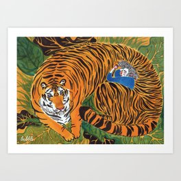 The wild beast is reasting Art Print