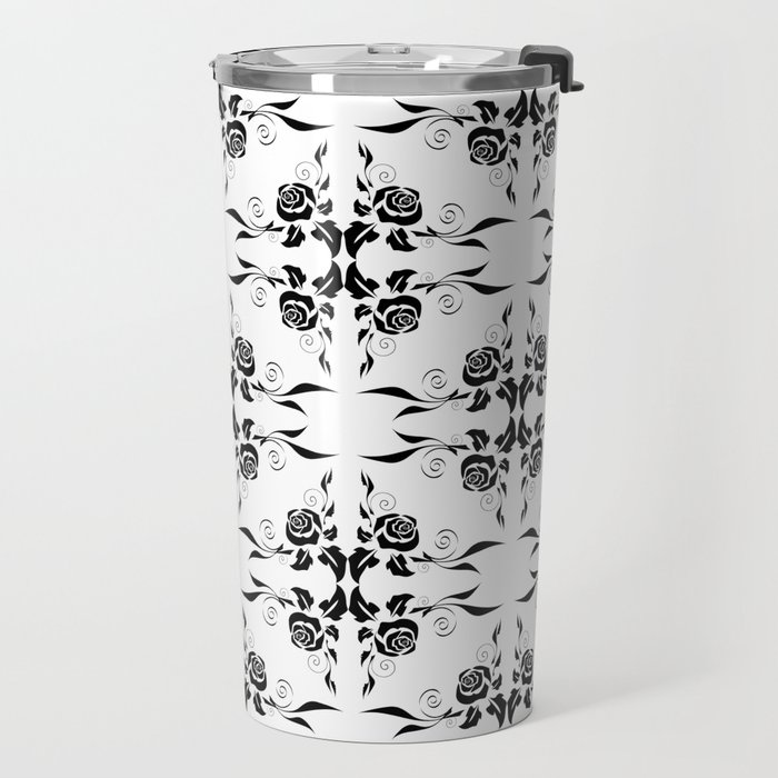 Floral background Travel Mug