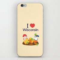 coraline iPhone & iPod Skins featuring Ernest and Coraline | I love Wisconsin by Hisame Artwork