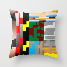 Pieces of fabrics Throw Pillow