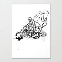 motorcycle Canvas Prints featuring Motorcycle. by sonigque