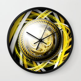 Wake the Bee, an Autobot Fractal Tribute to Bumblebee Wall Clock