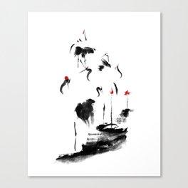 7 Cranes Canvas Print