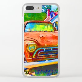 Antique tow truck Clear iPhone Case