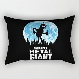 Shiny Metal Giant Rectangular Pillow