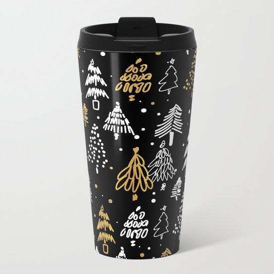 Christmas Tree Pattern Metal Travel Mug