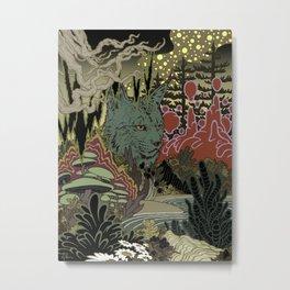 Zen Lynx Metal Print