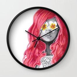 Flower Girl 5 Wall Clock