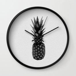 Pineapple Black & White Wall Clock