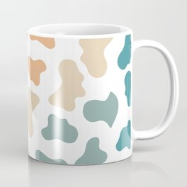 Retro Rainbow Cow Pattern Coffee Mug