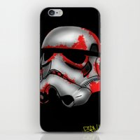 storm trooper iPhone & iPod Skins featuring Storm Trooper by Art of Fernie