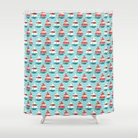 boat Shower Curtains featuring Boat by Valendji