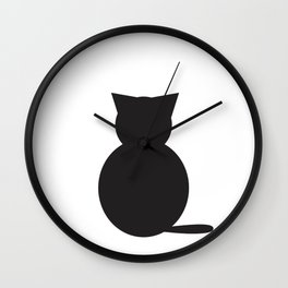 Graphi cat b&w Wall Clock