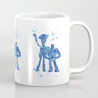 toy story Mugs featuring Woody and Buzz Toy Story Disneys by Carma Zoe