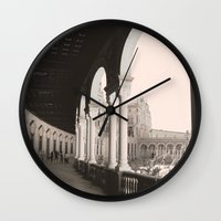 architecture Wall Clocks featuring architecture by Armine Nersisian