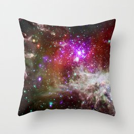 NGC 281 nebula with active star formation (NASA/Chandra) Throw Pillow
