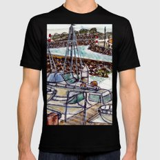 The Harbour 2, Figueira Da Foz, Portugal Black Mens Fitted Tee MEDIUM