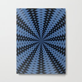 Blue & Black Metal Print