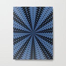 Blue & Black Metal Print