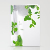 melissa smith Stationery Cards featuring Melissa officinalis by Tanja Riedel