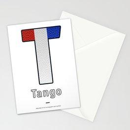 Tango - Navy Code Stationery Cards