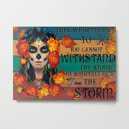 Black Hat Black Hat Day Of The Dead They Whispered To Her Metal Print