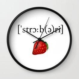 Strawberry Phonetic Wall Clock