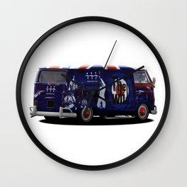 vw campervan The magic bus Wall Clock