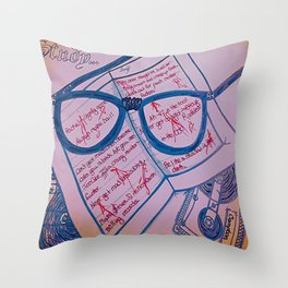 Study Your Tape of NWA Throw Pillow