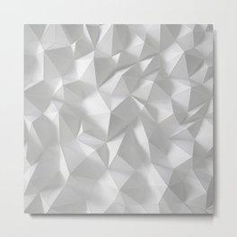 White polygonal landscape Metal Print