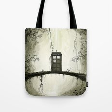 Tardis in the forest Tote Bag