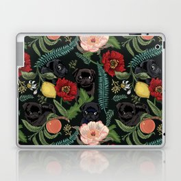 Botanical and Black Pugs Laptop & iPad Skin