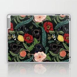 Botanical and Black Pugs Laptop & iPad Skin