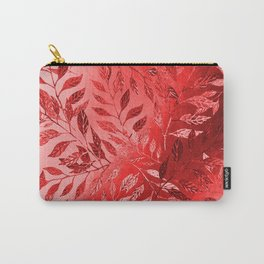 Monochrome  Leaf Arrangement (Red) Carry-All Pouch