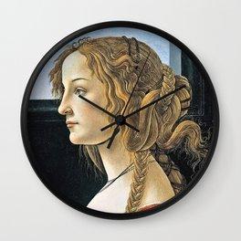 Sandro Botticelli -  Portrait Of Simonetta Vespucci Wall Clock