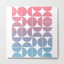 Geometric Gradient 01 Metal Print