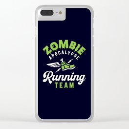 Zombie Apocalypse Running Team Clear iPhone Case