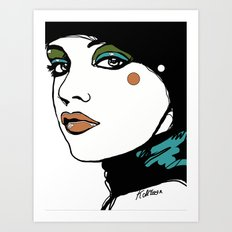 Green Eyeshadow  Art Print