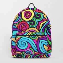 Saratoga Rainbow Swirls Absract Backpack