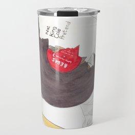 Haruki Murakami's South of the Border, West of the Sun Watercolour Novel Illustration Travel Mug
