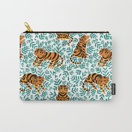 Tigers and Leaves Carry-All Pouch