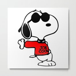 Joe Cool Snoopy Metal Print