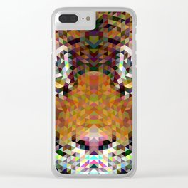 Tiger Triangle Mandala Clear iPhone Case