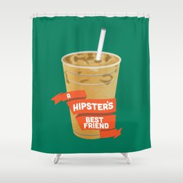 A Hipsters Best Friend Shower Curtain